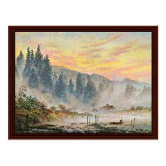 The Morning By Friedrich Caspar David Postcard