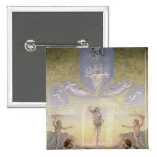 The Morning , c.1808-9 2 Inch Square Button