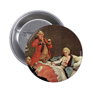 The Morning Chocolate, By Longhi Pietro Pinback Buttons