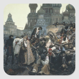 The Morning of the Execution of the Streltsy Square Sticker