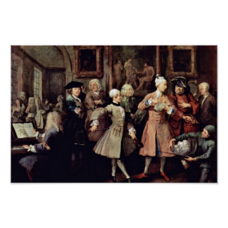 "The Morning Reception "" By Hogarth William Poster"