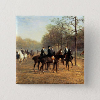 The Morning Ride, Rotten Row, Hyde Park, 1894 (oil Button