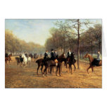 The Morning Ride, Rotten Row, Hyde Park, 1894 (oil Greeting Cards