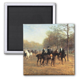 The Morning Ride, Rotten Row, Hyde Park, 1894 (oil Magnet