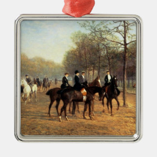 The Morning Ride, Rotten Row, Hyde Park, 1894 (oil Metal Ornament