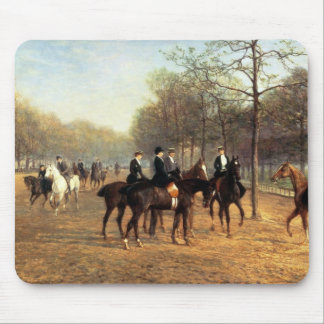 The Morning Ride, Rotten Row, Hyde Park, 1894 (oil Mouse Pad