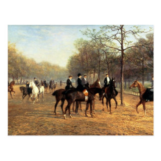 The Morning Ride Rotten Row Hyde Park 1894 oil Postcard