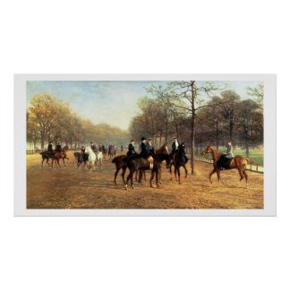 The Morning Ride, Rotten Row, Hyde Park, 1894 (oil Poster
