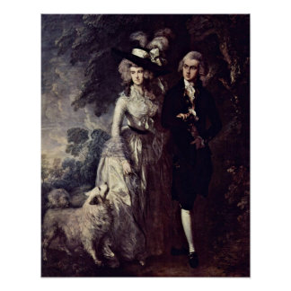 The morning walk by Thomas Gainsborough Poster