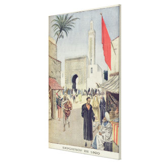 The Moroccan Pavilion at the Universal Exhibition Canvas Print