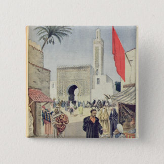 The Moroccan Pavilion at the Universal Exhibition Pinback Button