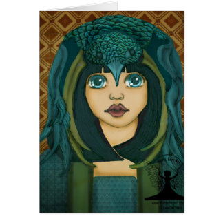 The Morrigan by Mythic Fairy Art Greeting Card