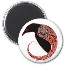 The Morrigan Raven Celtic knotwork magnets