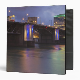 The Morrison bridge over the Willamette river 3 Ring Binder