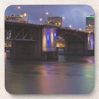 The Morrison bridge over the Willamette river Drink Coaster