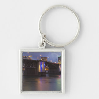 The Morrison bridge over the Willamette river Keychain