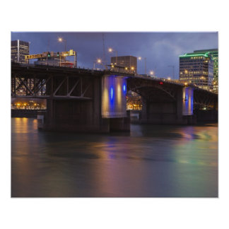 The Morrison bridge over the Willamette river Poster