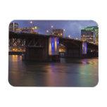 The Morrison bridge over the Willamette river Rectangular Magnet