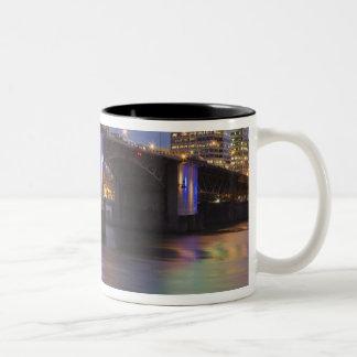 The Morrison bridge over the Willamette river Two-Tone Coffee Mug