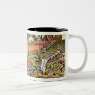 The Moscow Kremlin in the time of Tsar Ivan III Two-Tone Coffee Mug