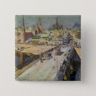 The Moskva River Bridge, 1914 Pinback Button