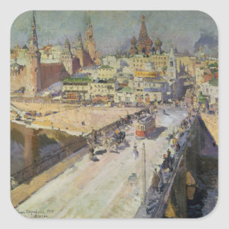 The Moskva River Bridge, 1914 Square Sticker