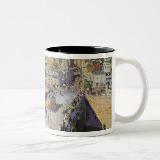 The Moskva River Bridge, 1914 Two-Tone Coffee Mug