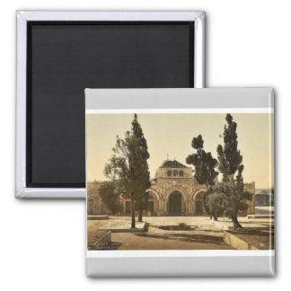The Mosque of El-Aksa, Jerusalem, Holy Land magnif 2 Inch Square Magnet