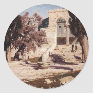 The Mosque of Omar. Haram el-Sharif. by Vasily Classic Round Sticker