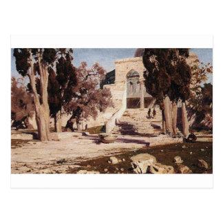 The Mosque of Omar. Haram el-Sharif. by Vasily Postcard