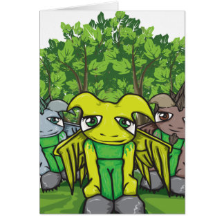 The Moss People Greeting Card