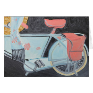 THE MOST BEAUTIFUL BICYCLE IN PARIS card