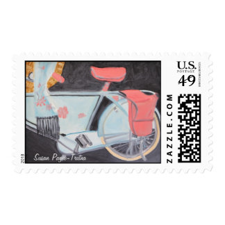 THE MOST BEAUTIFUL BICYCLE IN PARIS postage stamp