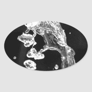 """The most beautiful modern art photograph anisia "" Oval Sticker"