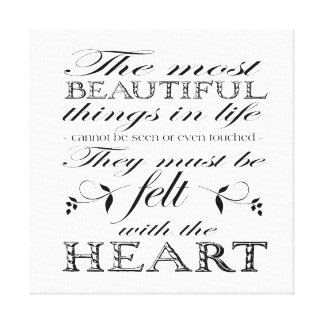 The Most Beautiful Things Canvas Print