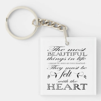 The Most Beautiful Things Keychain