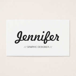 The most Concise and Simple - Minimalist design Business Card