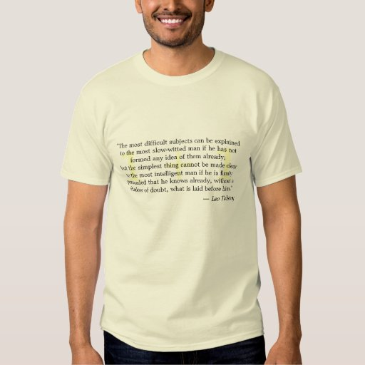 """""""The most difficult subjects..."""" T-shirt"""