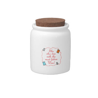 The Most Fabric Candy Jar