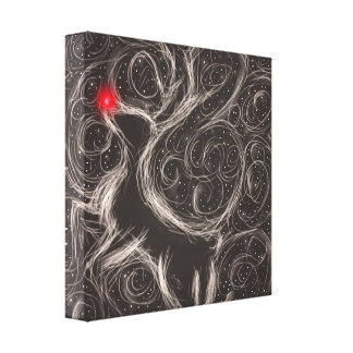 The Most Famous Reindeer Canvas Print