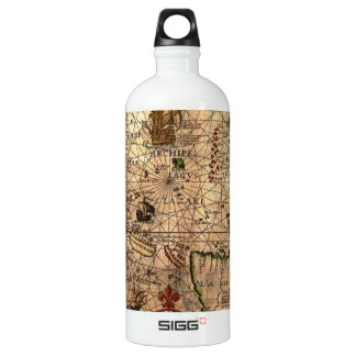 the most important hictoric Southeast Asia Map Aluminum Water Bottle