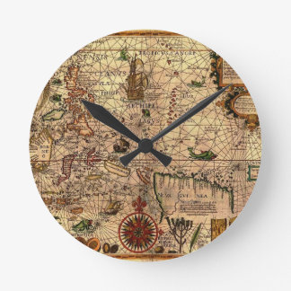 the most important hictoric Southeast Asia Map Wall Clocks