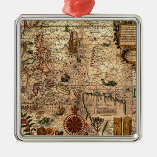 the most important hictoric Southeast Asia Map Metal Ornament