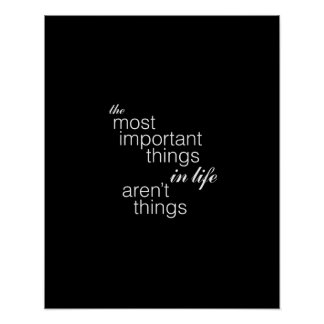 The Most Important Things in Life Aren't Things Poster