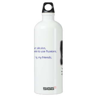 The most interesting man in the world of physics water bottle