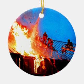 The most lovable people fire fighter christmas tree ornaments