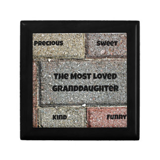 The Most Loved Granddaughter Keepsake Box
