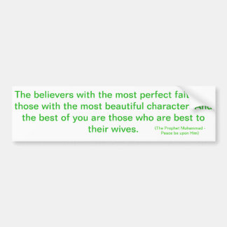 The most perfect believers bumper sticker