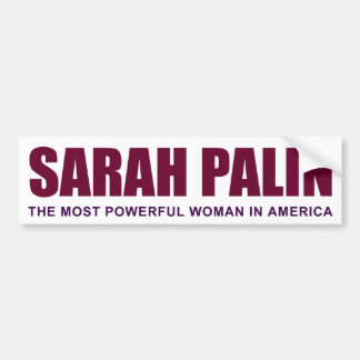 The Most Powerful Woman Bumper Sticker