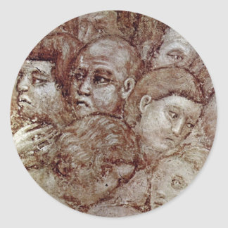The Most Recent Court Details By Cavallini Pietro Classic Round Sticker